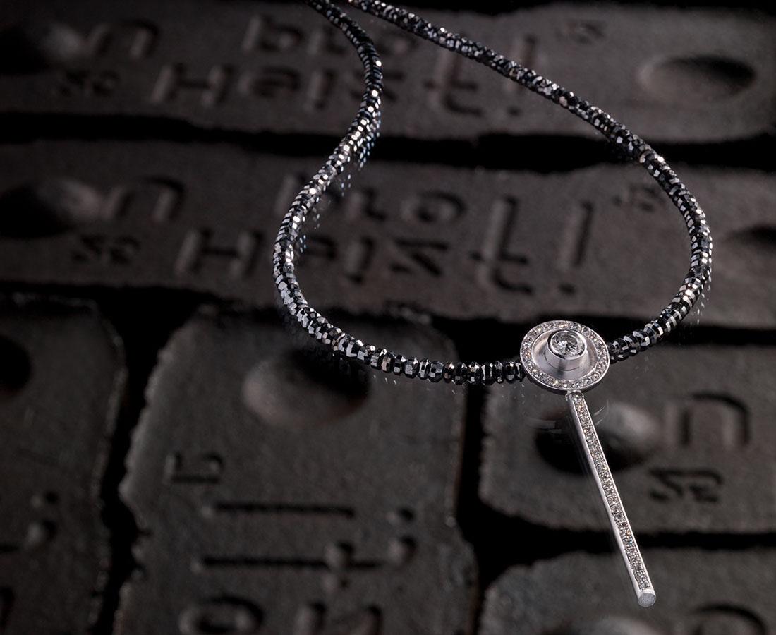 Diamantkette schwarz