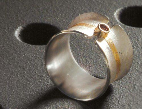 Ring Silber Gold und Brillant