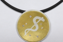 Anhänger-925ooo-Silber-mit-900ooo-Gold-und-Brillant-