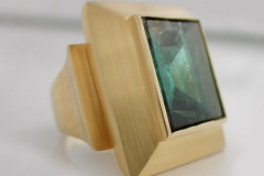 Ring750/000 Gold9,6 ct Turmalin SpiegelschliffDM 4.200,00