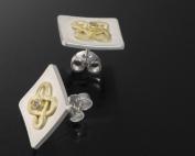 Ohrstecker aus Plating und Gold